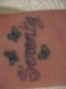 inside of right wrist