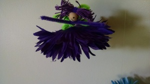 flower fairy - kid craft project done with the girls last weekend